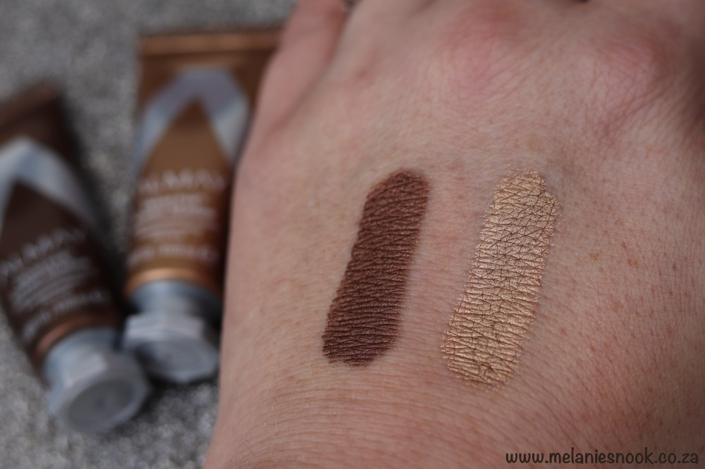 Almay Velvet Cream shadows swatch